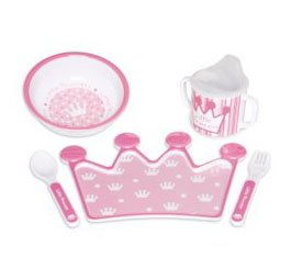 PRINCESS Melamine Feeding Set