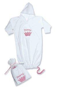 Princess/Prince Hooded Gown Newborn 0-6M