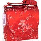 IFD11 - Red/Silver Cherry Blossom - 'I Frogee' Boxy Diaper Bags