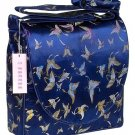IFD16 - Dark Blue Butterfly - 'I Frogee' Boxy Diaper Bags