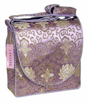 IFD20 - Light Purple Fortune Flower - 'I Frogee' Boxy Diaper Bags