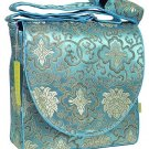 IFD31 - Light Skyblue Fortune Flower - I Frogee Diaper Bags