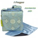 IFD31A - Baby Blue Fortune Flower - I Frogee Diaper Bags