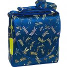 IFD38 - Dark Blue Dragonfly - I Frogee Brocade Diaper Bags