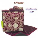 IFD39 - Maroon Fortune Flower - I Frogee Brocade Diaper Bags