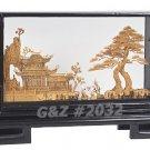 2032 - Oriental Garden View w/Cranes - Cork Art