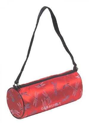SHB1 - Red Cylinder Shoulder Bag (Cosmetic Bag)