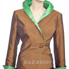 S007 - Brown - Lady's 1-Button Jacket