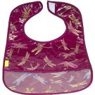 Maroon Dragonfly-'I Frogee' Baby Bibs