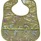Olive Green Butterfly-'I Frogee' Baby Bibs