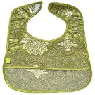 Olive Green Fortune Flower-'I Frogee' Baby Bibs