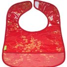 Red/Gold Cherry Blossom-'I Frogee' Baby Bibs