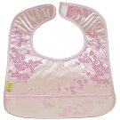 Silver/Light Pink Cherry Blossom-'I Frogee' Baby Bibs
