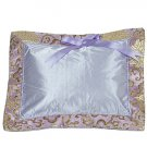 Light Purple Fortune Flower Brocade - I Frogee Baby Pillow