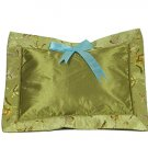 Olive Green Butterfly Brocade - I Frogee Baby Pillow