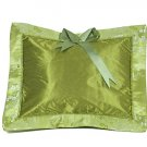 Olive Green Cherry Blossom Brocade - I Frogee Baby Pillow