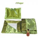 Olive Green Cherry Blossom Brocade - I Frogee Baby Gift Set