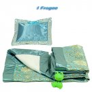 Light Blue Fortune Flower Brocade - I Frogee Baby Gift Set