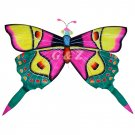 TCHD001-2  Rain Forest Butterfly Kite-1 (Pink/Green) (Chinese Silk Kite)