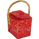 BX03 - Red Chinese 'Take-Out-Box' Shape Handbags(Dragon Brocade)