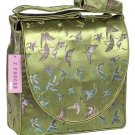 IFD17 - Olive Green Butterfly - 'I Frogee' Boxy Diaper Bags