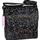 IFD01 - Black Chili Flower - 'I Frogee' Boxy Diaper Bags
