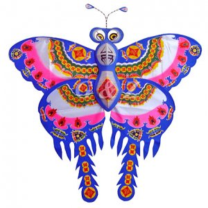 FU(Chinese 'Happiness' Symbol)-Large Silk Butterfly Kite