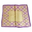 XFJ001 Small Square Chinese Silk Scarf - Purple