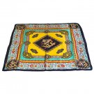 DFJ007 Large Square Chinese Silk Scarf - Royal Dragons