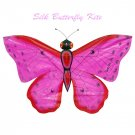 TC-B011 Hot Pink Silk Butterfly Kite(Small) -Chinese Silk Kites