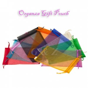 Medium Drawstring Sheer Organza Gift Bags (By Dozen)