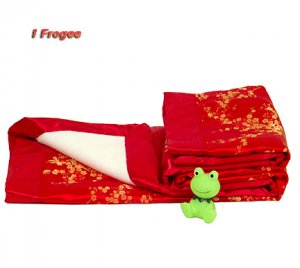 Red/Gold Cherry Blossom- I Frogee Brocade Baby Blankets