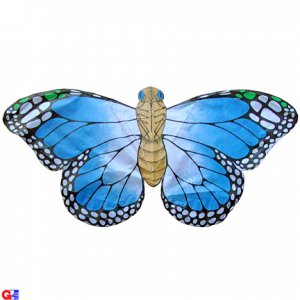 2 Rayon Blue Butterfly Kites For Kids