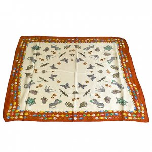 DFJ009 Large Square Chinese Silk Scarf - Jewelry Pins