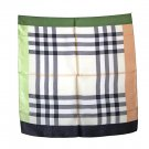 DFJ002 Large Square Silk Scarf - Uni-Sex - Black/Green