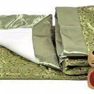 Olive Green Fortune Flower Brocade Fleece Baby Blankets