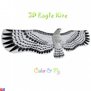 DIY-EAGLE-2 Large 3D Rayon Eagle Kite