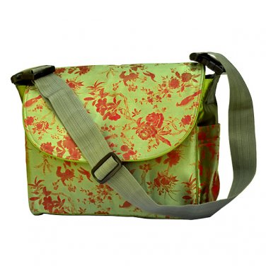 Multi Function Diaper Bag / Backpack - Green/Red