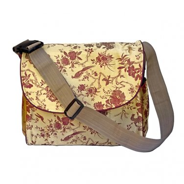 Multi Function Diaper Bag / Backpack - Gold/Red