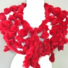 Red Rabbit Fur Shawl  1000FUR