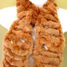 Camel Rabbit Fur Muffler Scarf 1SFB1658