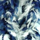 Navy Blue & White Feather BOA