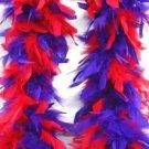Red & Purple Feather BOA