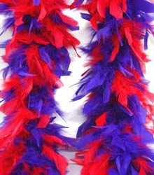 Red & Purple Feather BOA