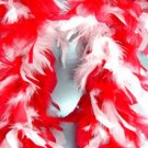 Red & White Feather BOA