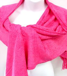Hot Pink Chenille Feel Shawl