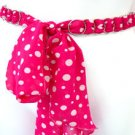 Hot Pink & White Polka Dot Chiffon Sash Belt 100RSASH6