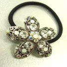Clear Flower Crystal Ponytail Holder 1HA2520217
