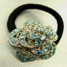 Blue Rose Crystal Ponytail Holder 1HA2520225