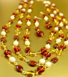 Multi Stone & Glass Beads Necklace Set 1N243024C
